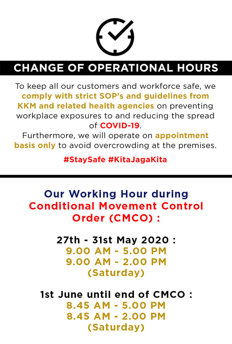 Change of Operating Hours - Mobile